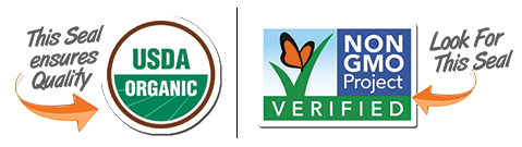 USDA Organic Seal and Non GMO seal